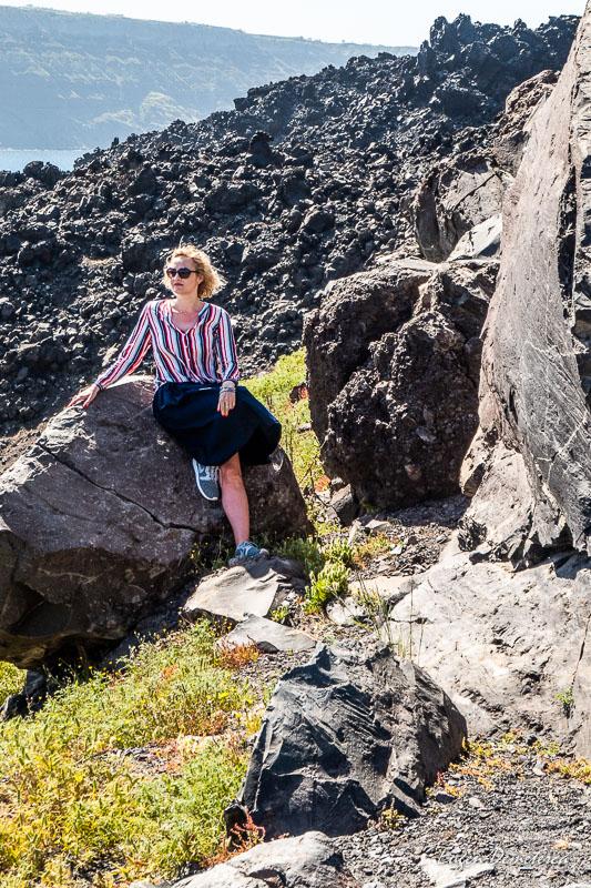 Pe bolovanul de lava - Santorini