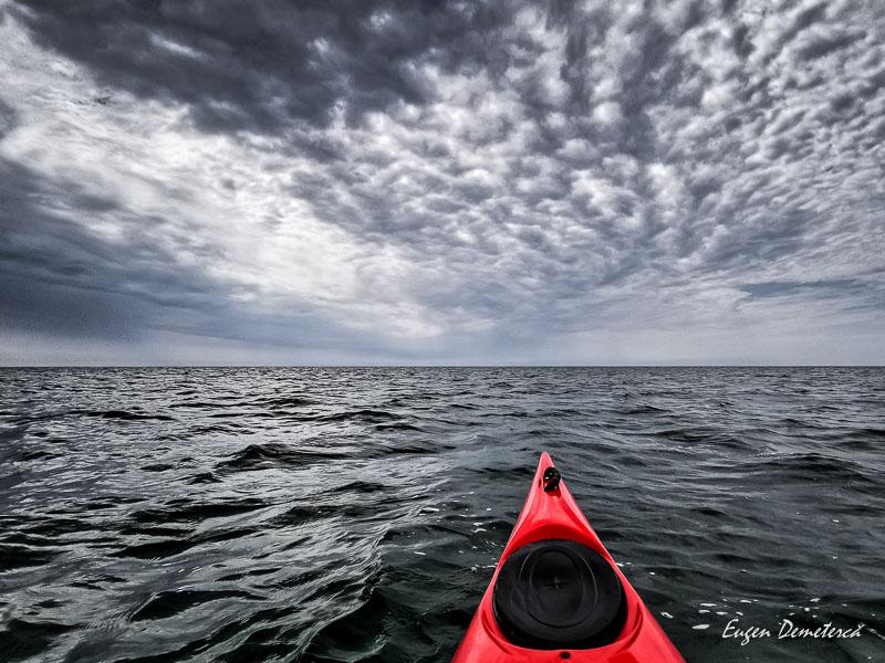 Nori cu caiac in Marea Neagra