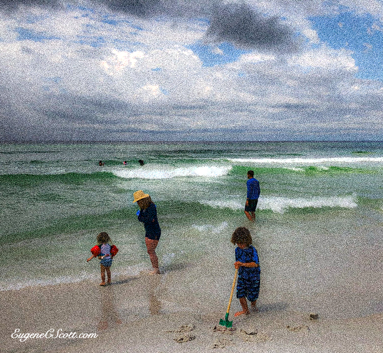 Monet-like Beach scene