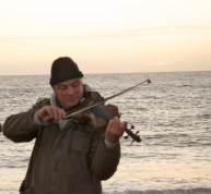 violin by the sea