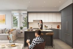Kin Collection Burnaby Townhomes - Boulevard Collection Dark Kitchen
