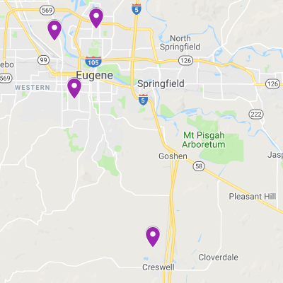 ESMA Locations are in Eugene and Creswell