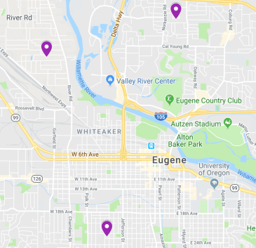 ESMA has convenient locations throughout the Eugene/Springfield area