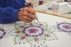 Serti Method for Silk Painting