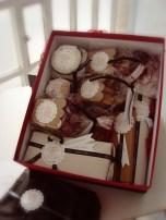 Productos dentro de la caja