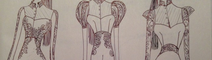focus on the bodice detail