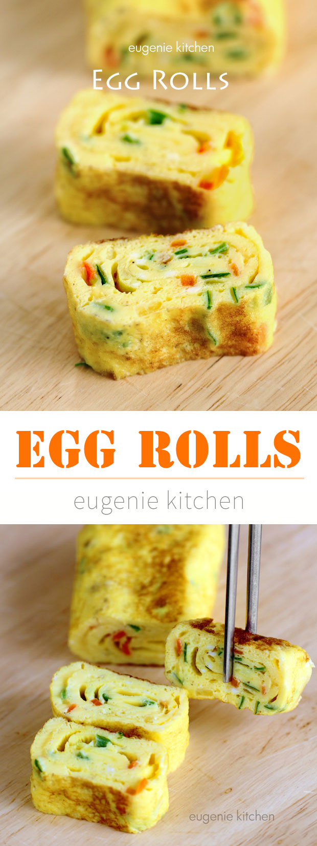 Egg Rolls Recipe - Tamagoyaki by Eugenie Kitchen