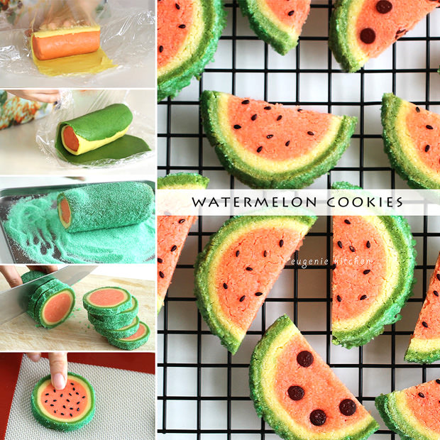 Watermelon Cookies - Eugenie Kitchen