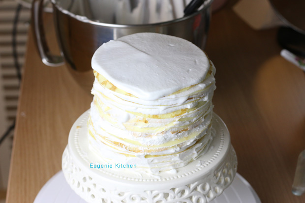 Rainbow Heart Crepe Cake - Eugenie Kitchen