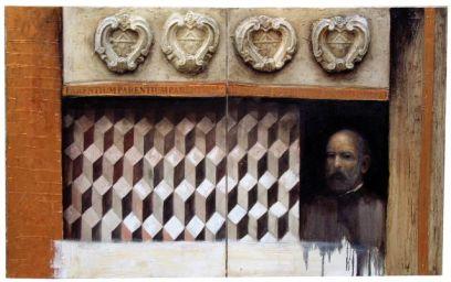 """Polesini"" 200x100 cm, oil on canvas, mixed"
