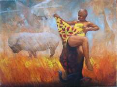 """Weltsmertz - Congo"" 40x30 cm, oil on canvas, 2011."