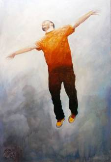 Boy from the water, 150x100 cm, oil on canvas