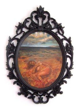 Black river, 70x50 cm, acrylic on wood, 2009.