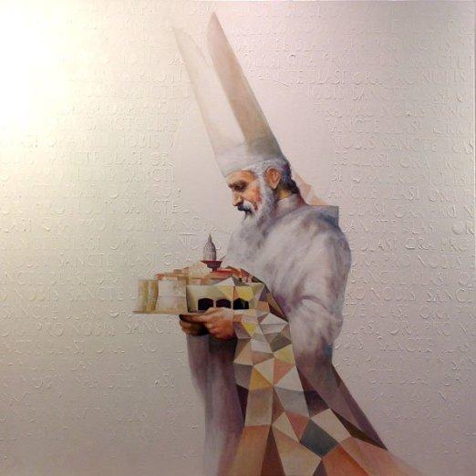 Sancte Blase ora pro nobis, 100x100 cm, acrylic on canvas