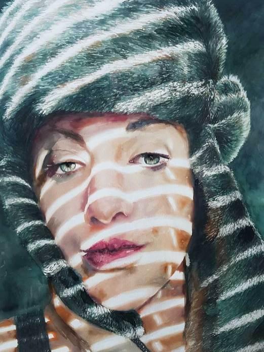 """Vasputnik"" 45x65 cm, watercolor on paper, 2019."