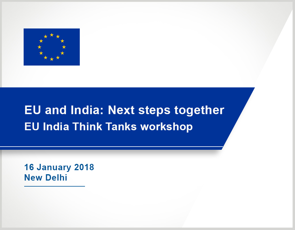 EU India Think Tanks workshop