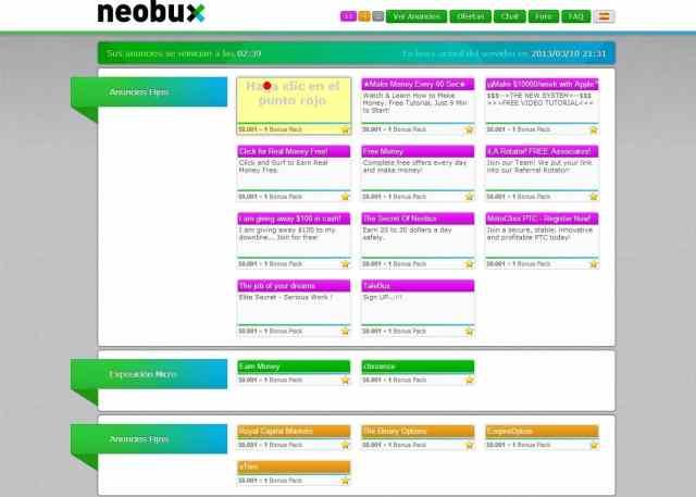 abrir anuncio neobux Neobux, Sistema para ganar dinero sin inversion viendo publicidad abrir anuncio 1