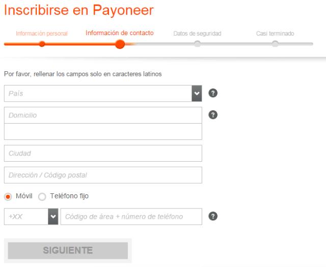 datos de contacto solicitud payoneer Payoneer, Tarjeta Internacional Gratis con Cuenta en Estados Unidos datos de contacto solicitud payoneer