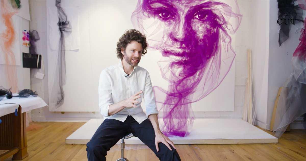 Benjamin Shine, arte con telas