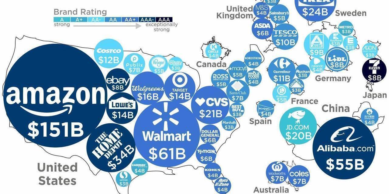 Infografía del día: las 50 marcas más valiosas del mundo