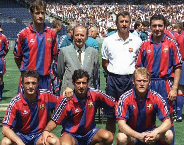 Kodro, Hagi, Popescu, Figo y Prosinecki. Los cinco extranjeros del F.C.Barcelona la temporada 95-96.