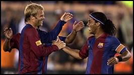 Gudjohnsen i Ronaldinho