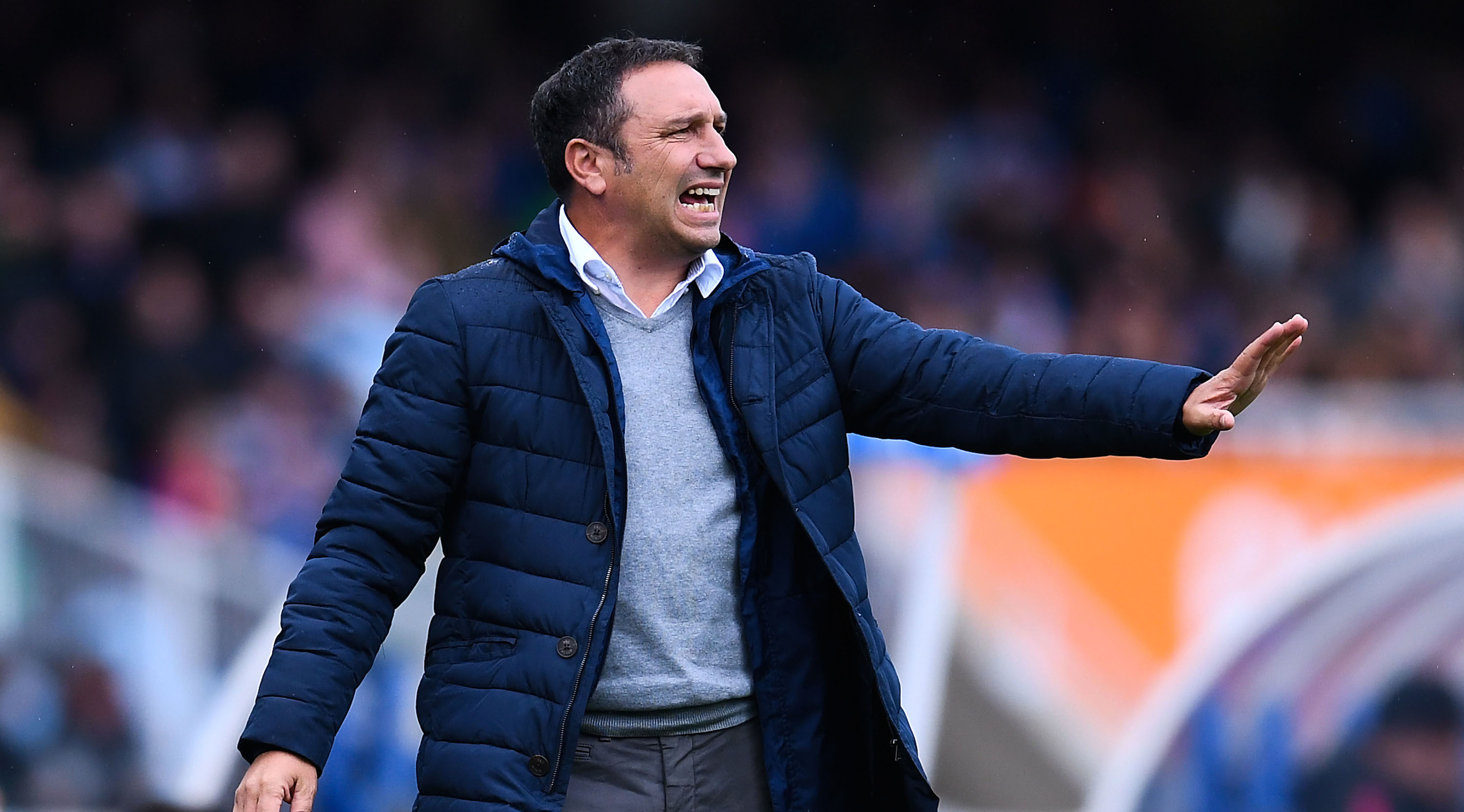 SAN SEBASTIAN, SPAIN - NOVEMBER 05: Head coach Eusebio Sacristan of Real Sociedad de Futbol reacts during the La Liga match between Real Sociedad de Futbol and Atletico de Madrid at Anoeta stadium on November 5, 2016 in San Sebastian, Spain. (Photo by David Ramos/Getty Images)