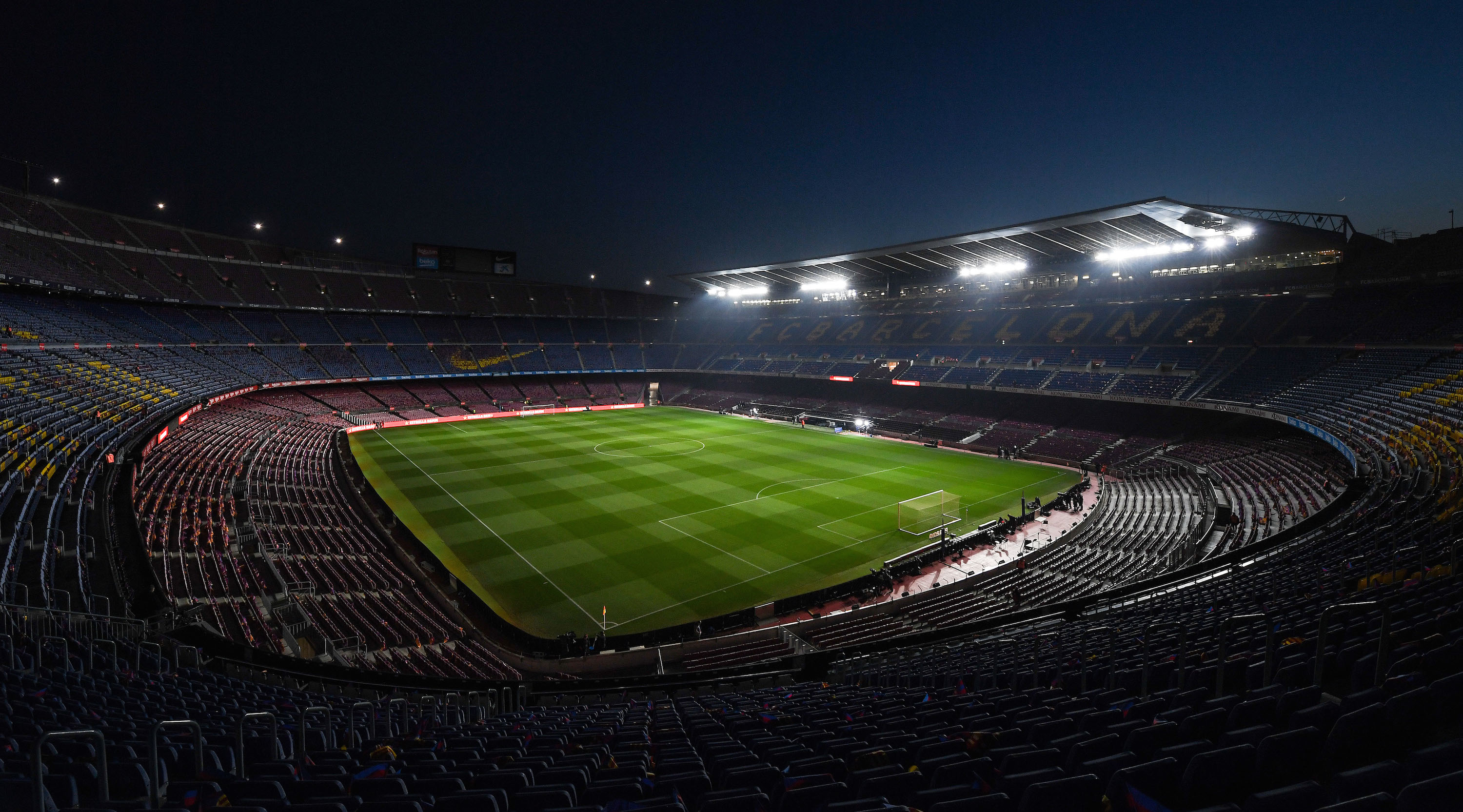 BARCELONA, SPAIN - FEBRUARY 06: A general view of the stadium prior to the Copa del Semi Final first leg match between Barcelona and Real Madrid at Nou Camp on February 06, 2019 in Barcelona, Spain. (Photo by Alex Caparros/Getty Images)