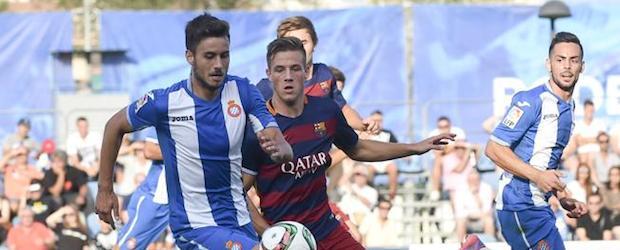El Espanyol B ganó por 3-2 al Barça B en el derbi de filiales de la tercera jornada.