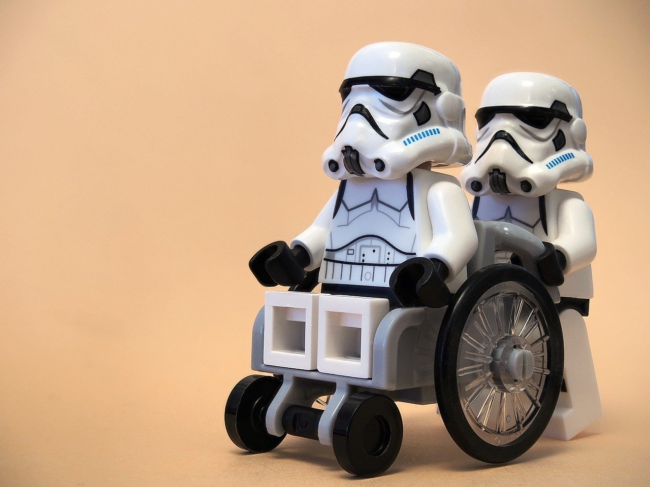 wheelchair, stormtrooper, lego