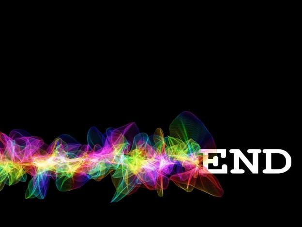 end, final, particles