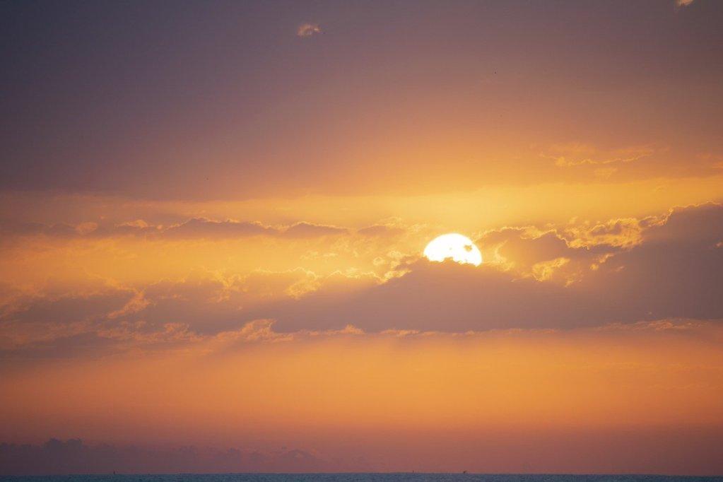 sky, dawn, landscape