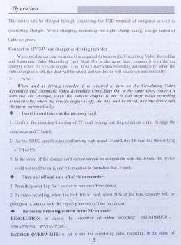 PowerLead Acoo Par002 New FULL HD 1080P Car Camera - Manual page 6.