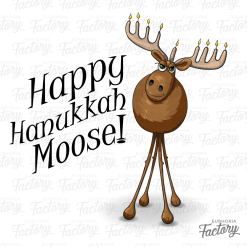 Happy Hanaukkah Moose