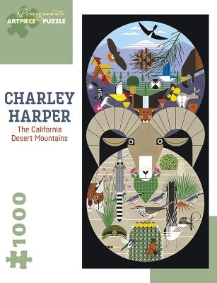 Charley Harper: The California Desert Mountains 1000-Piece Jigsaw Puzzle