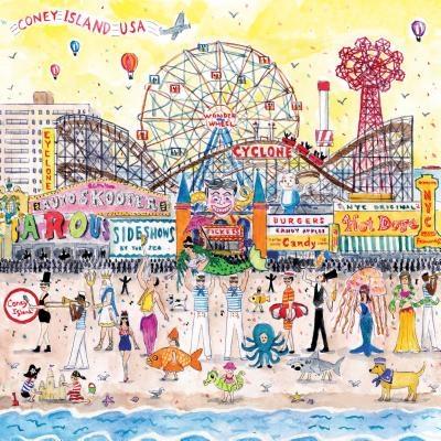 Michael Storrings Summer at the Amusement Park 500 Piece Puzzle