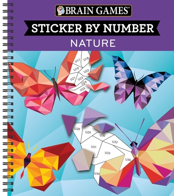 Brain Games - Sticker by Number: Nature (Geometric Stickers)