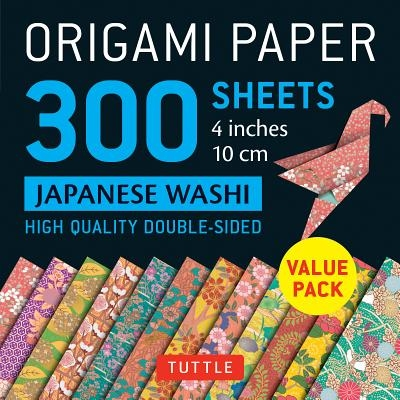 """Origami Paper 300 Sheets Japanese Washi Patterns 4"""" (10 CM): Tuttle Origami Paper: High-Quality Double-Sided Origami Sheets Printed with 12 Different"""