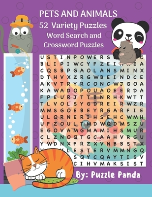 Pets and Animals 52 Variety Puzzles: Word Search and Crossword Puzzles