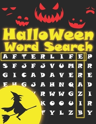Halloween Word Search: Perfect 2in1 Halloween Gift for Kids: Word Search Puzzles and Mazes Activity Book.