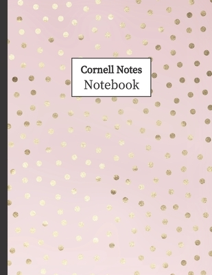 """Cornell Notes Notebook: Cornell Ruled Paper - Note Taking System for School College University: 8.5"""" x 11"""" 108 Pages, Pretty Pink Polka Dot"""