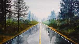como pintar paisagens