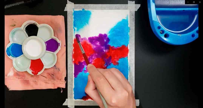 pintura de galáxias 2