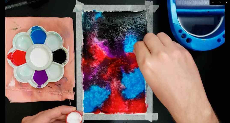 técnicas de aquarela e guache