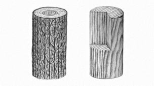 como desenhar textura de madeira