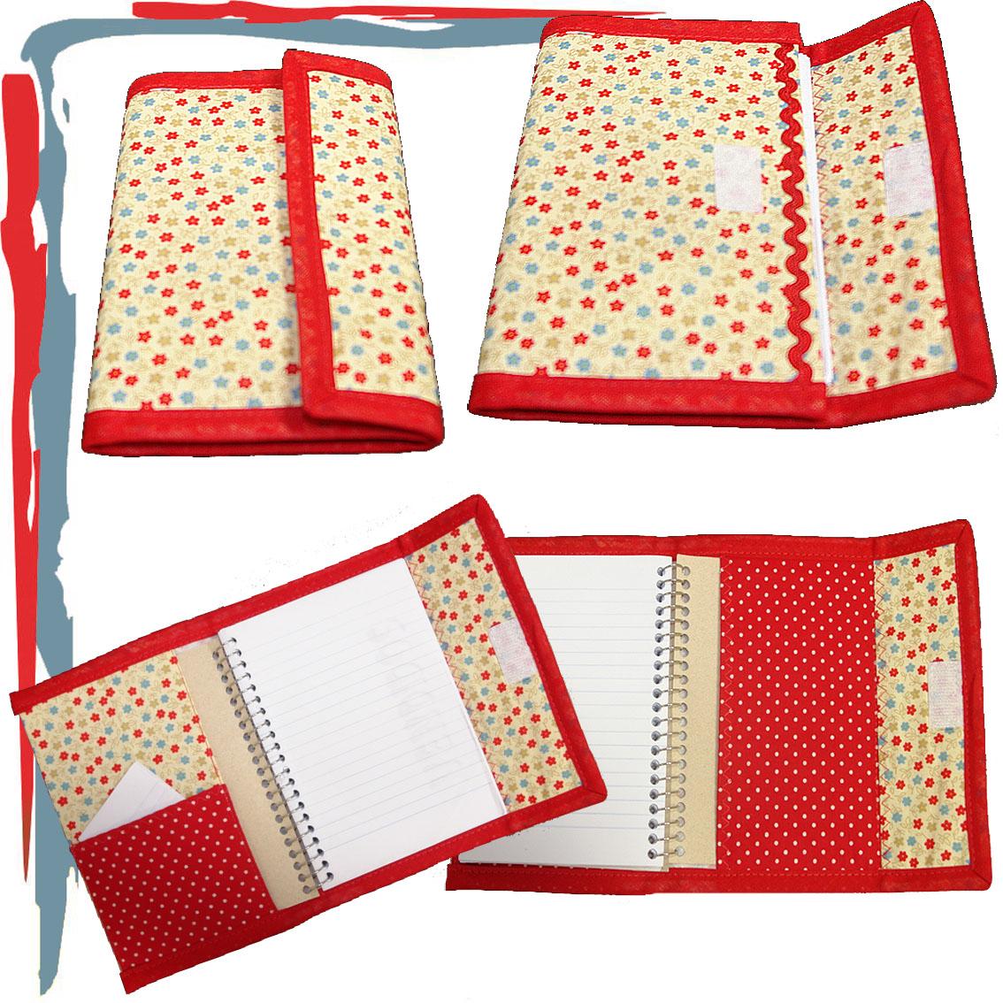 capa caderninho vermelha