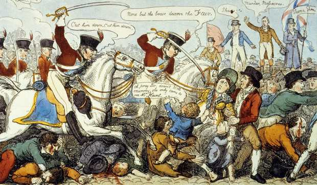 """Manchester Massacre"" in 1819."