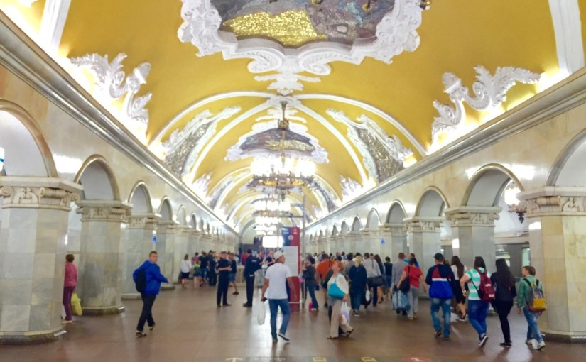 Welcome to Moscow! Metro Tour..why? because it's cool!