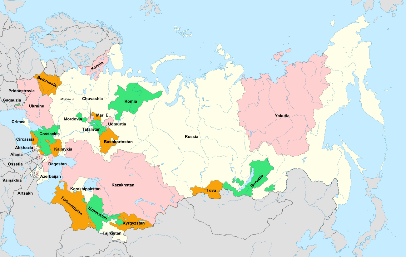 Republics Of The Ussr New Union