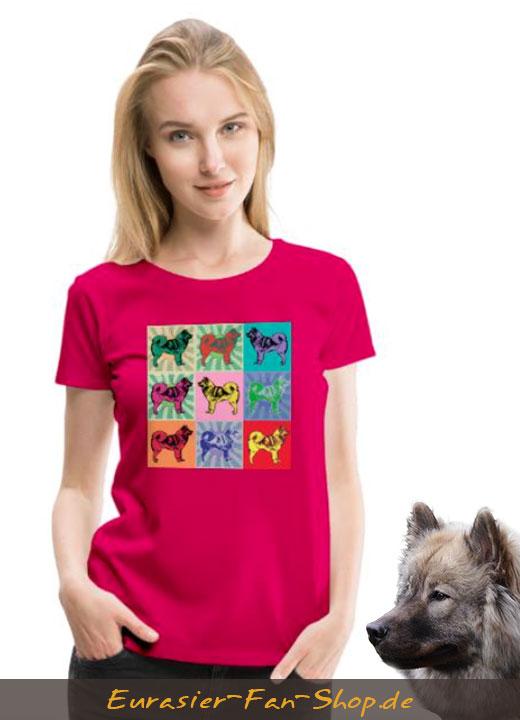 Eurasier T-Shirt für Frauen - Warhol Style